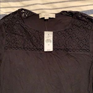 Black loft long sleeve with lace detail
